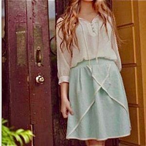 Matilda Jane Serendipity Sweet Tea Skirt S Linen